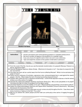 Movie Questions - The Pianist