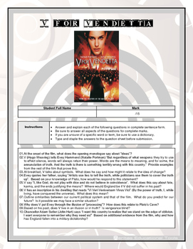 Movie Questions - V for Vendetta
