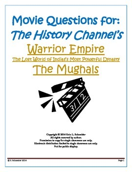 Movie Questions for The History Channel's Warrior Empire (The Mughals)