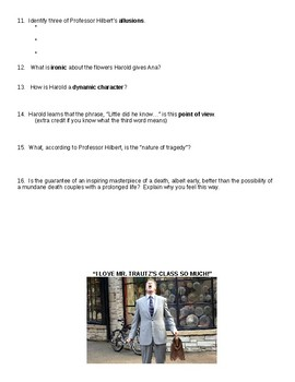 Movie Questions for Will Ferrell's Stranger than Fiction - literary questions