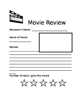 Review Writing: Movie