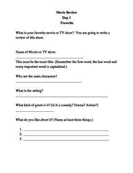 movie review creative writing for elementary students by lynn beeson movie review creative writing for elementary students