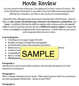Movie Review Handout