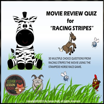 Racing Stripes Movie Review - PowerPoint Game