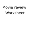 Movie Review Worksheet (Editable)