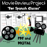 Movie Review Project for Spanish classes Project Based Learning