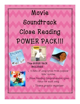 Movie Soundtrack Close Reading SUPER PACK