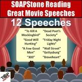 Movie Speeches SOAPStone Reading & Rhetorical Precis Writing