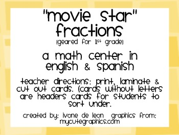 Movie Star Fractions