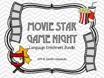 Movie Star Game Night! Language Enrichment Bundle
