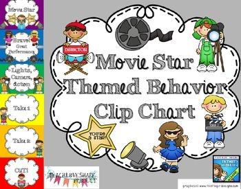 Movie Star Themed Behavior Clip Chart