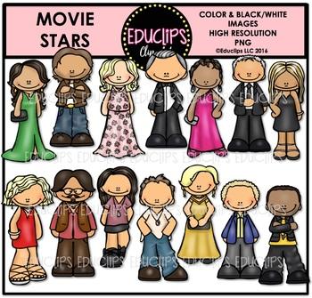 Movie Stars Clip Art Bundle {Educlips Clipart}