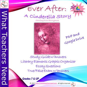 """""""Ever After"""" starring Drew Barrymore- Movie Study Guide (Now with Google Drive!)"""