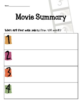 Movie Summary Handout