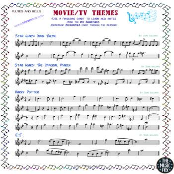 Movie/TV Themes for Instrumental Music - FREEBIE