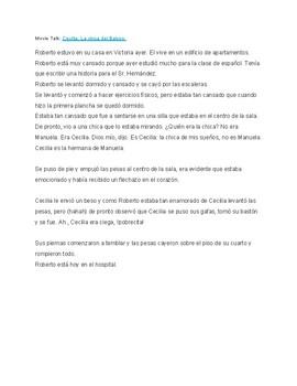 """Movie Talk: """"Cecilia la chica del Balcon"""""""