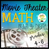 Distance Learning Movie Theater Math Project Print and Digital