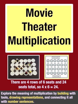 Movie Theater Multiplication: Performance Task Math Project (Grades 2-4)