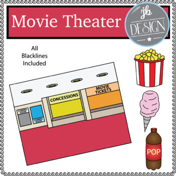 Movie Theater Scene (JB Design Clip Art for Personal or Commercial Use)