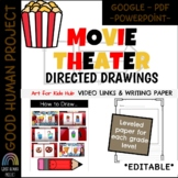 Movie Theater Treats Directed Drawings, Links & Writing paper | EDITABLE