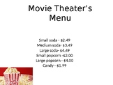Movie Theater math (2 step problems)