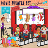 Movie Theatre Clipart with Dancing Refreshments and Guests