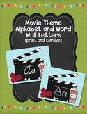 Movie Theme Alphabet Posters and Word Wall Letters Customizable