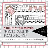 Movie Theme Border Decor Bulletin Board Popcorn