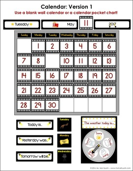Movie-Themed Calendar Kit