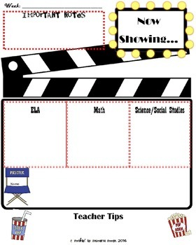 Movie Theme Classroom Newsletters (2 Templates)