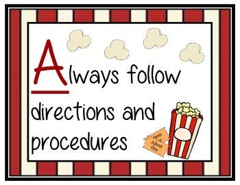 Movie Theme Classroom Rules