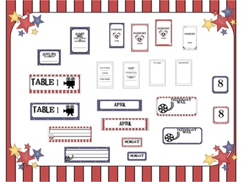 Movie Theme Classroom Welcome Pack
