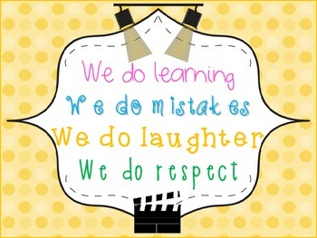 """""""In Our Classroom We Do"""" ... Poster Movie Theme"""