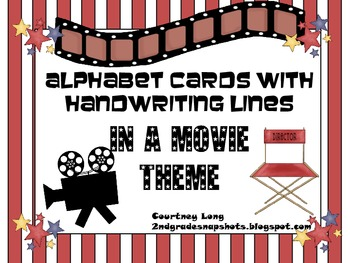 Movie Theme Large Letter Cards with Beginning Sounds and H