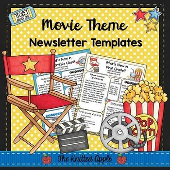 Movie Theme Newsletter Templates