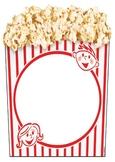 Movie Theme - A3 Popcorn Box - Class Name