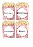 Movie Theme - Popcorn Boxes - Class Jobs