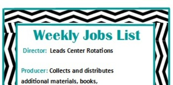 Movie Theme Weekly Jobs Poster