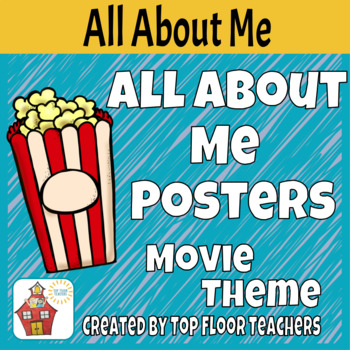 Back To School All About Me Posters Movie Theme/Bulletin