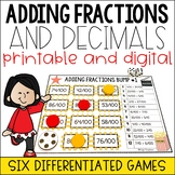 Movie-Themed Adding Decimals and Fractional Parts of 10 and 100 Bump Game
