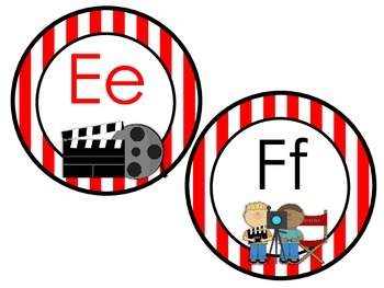 Movie Themed Alphabet Headers for Word Wall