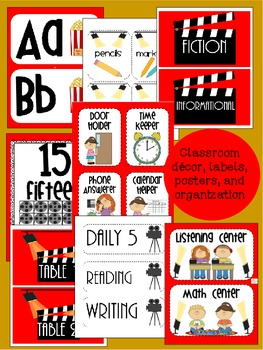 Movie/ Hollywood Themed Classroom {Decor, Classroom Management, & Resources}