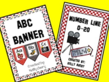 Hollywood Themed Alphabet and Number Banners