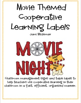 Movie Themed Classroom Management Labels