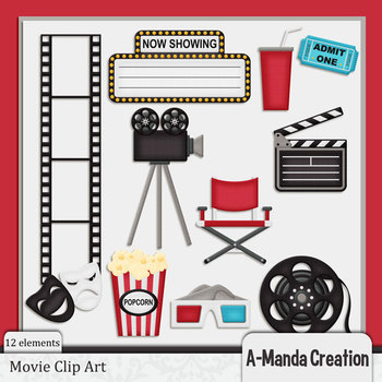 Movie Themed Clip Art