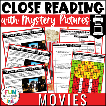 Movie Themed Close Reading Comprehension Passages | ELA Test Prep Review