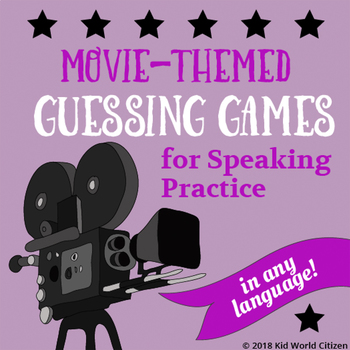 Movie-Themed Guessing Games for Speaking Practice Game in Any Language