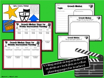 Movie-Themed Growth Mindset Posters (Hollywood Theme)