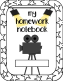 Movie Themed Homework Notebook Cover