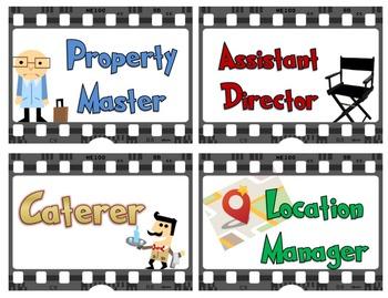 Movie Themed Job Chart